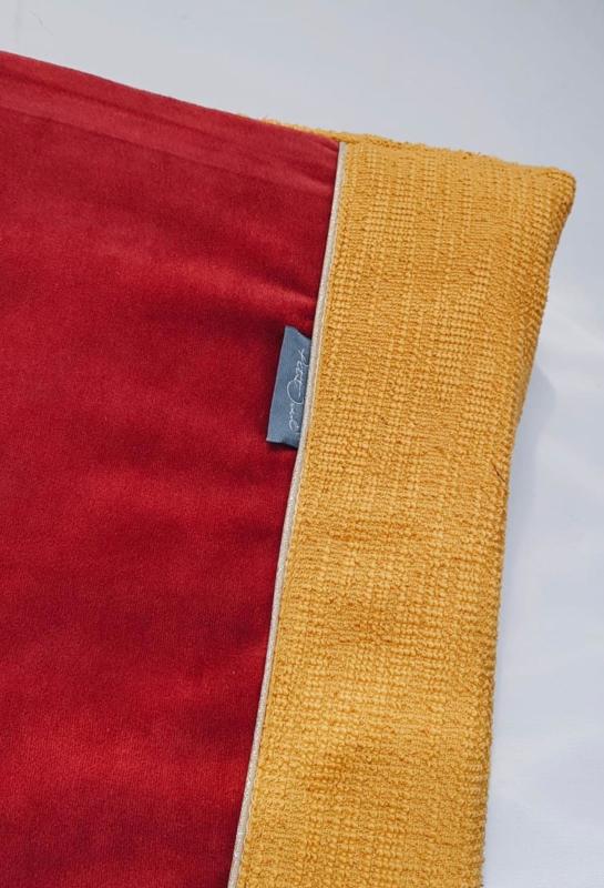 Aankleedhoes Velvet meets Gold, Citrine, terra velvet
