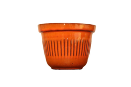 Vintage oranje bloempot