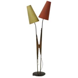 Vloerlamp met 2 kappen 'Puschendorf'