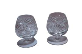 Kristallen cognacglazen (meerdere aanwezig)