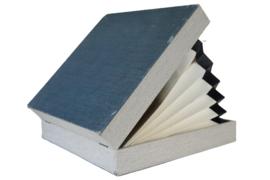 Platenkoffer blauw/grijs (20 platen)