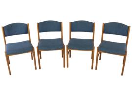 Set van 4 Deense eetkamerstoelen 'Appen'