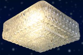 Glazen plafonniere vierkant