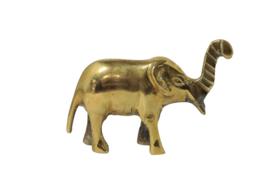 Messing olifant 6,5 cm