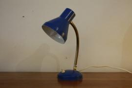 Blauwe bureaulamp