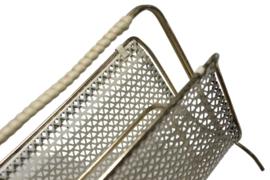 Messing servethouder / brievenrekje met metaal