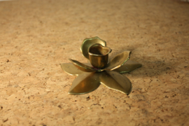Messing bloem kandelaar