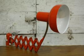 Oranje schaarlamp