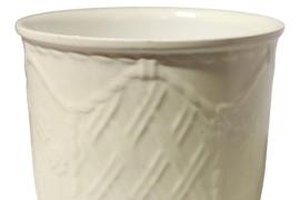 Witte bloempot 'Fiori 12'
