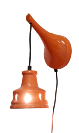 Keramieken oranje lamp