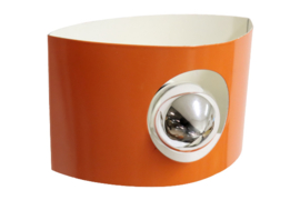 Oranje wandlampje