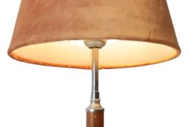 Tafellamp met velours kap