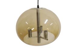 Hanglamp chroom met kunststof