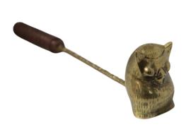 Messing kaarsendover 'oehoe'