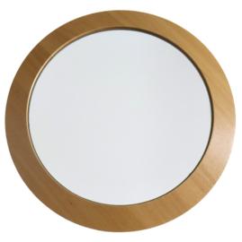 Ronde spiegel met  houten omlijsting