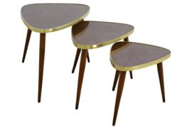 Set van 3 Nesting tables 'triangle'