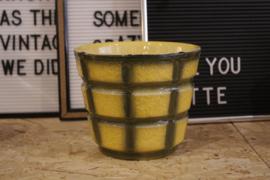 Geel / groene bloempot