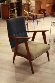 Vintage two-tone fauteuil