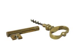 Messing kurkentrekker 'sleutel'