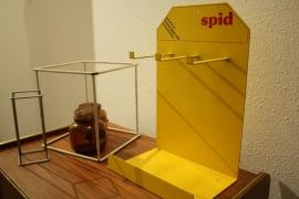 Geel metalen winkel display Spid