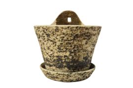 Hang bloempot berkenbast / chamotte