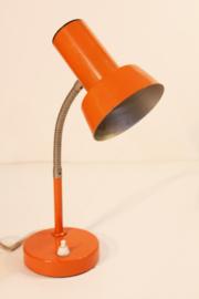 Retro oranje bureaulampje