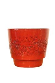 Rode bloempot