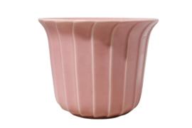 Roze bloempot 'wave'