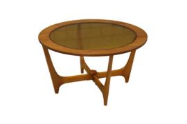 Ronde salontafel met glasplaat