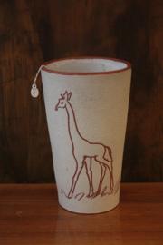 Vintage vaas met giraf