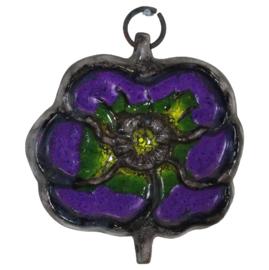 Wandecoratie 'purple flower'