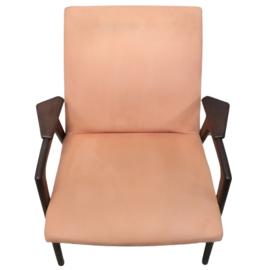 Roze fauteuil Pastoe 'Ruster' (Yngve Ekstrom)