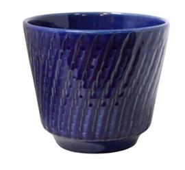 Donkerblauwe bloempot 700/14 'Oblicuo'