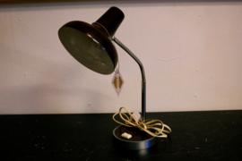 Donkerbruine bureaulamp