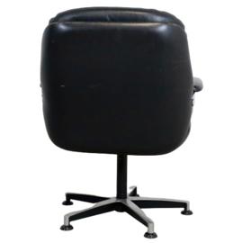 """Lederen fauteuil """"Blauwverlaat"""""""