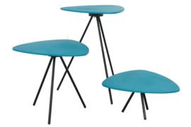 Set van drie plantentafels 'Blokgouw'