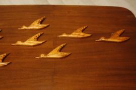 Houten wandvogels