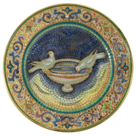 Wandbord 'Orvieta Decorato a Mano in Oro'