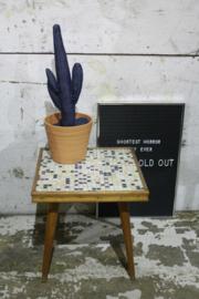 Plantentafeltje met mozaiek blad