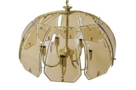 Messing met glazen hanglamp