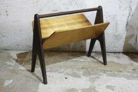 Vintage houten lectuurbak