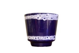 Donkerblauwe bloempot