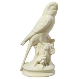 Witte keramieken vogel