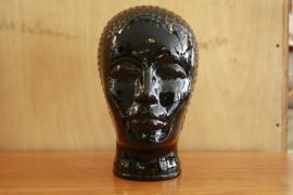 Zwart vintage glazen hoofd