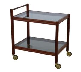 Trolley / barcart met rookglas