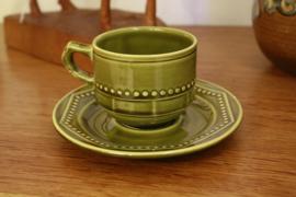 Vintage kop- en schotel