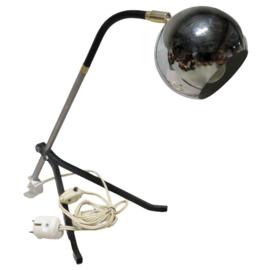 Vintage bureaulamp zilveren bol