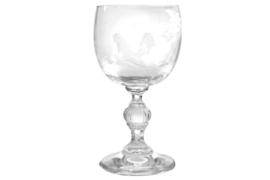 Kristal wijnglas 'haan'