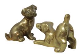 Messing puppies (set van 2)