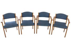 Set van 4 Deense eetkamerstoelen 'Exel'